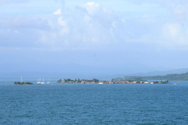 Aussicht auf San Blas Inseln vom Kreuzfahrtschiff