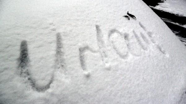 Urlaub im Schnee geschrieben