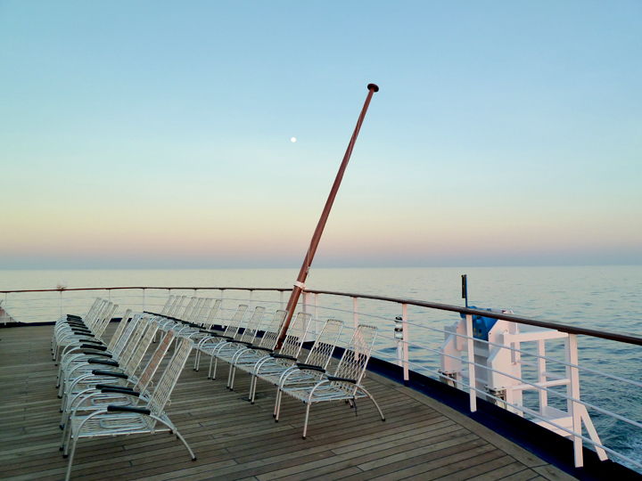 An Deck von MS Astor