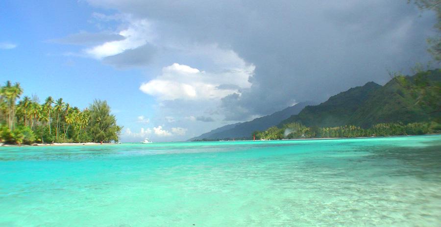 Lagune von Moorea