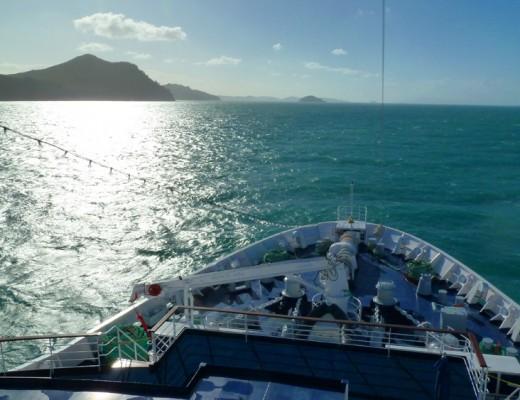 An Bord des Kreuzfahrtschiffs