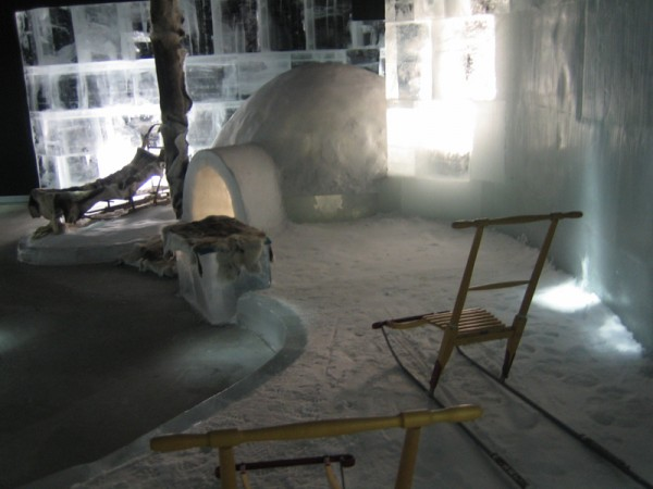 Arctic Ice Bar in Honningsvag foto: Arctic Ice Bar