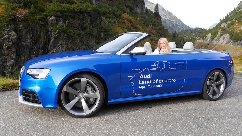 Audi RS5 Cabrio auf der Audi Alpentour