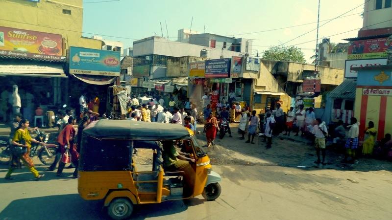 Alltägliches Getümmel in der Region Chennai (Madras)