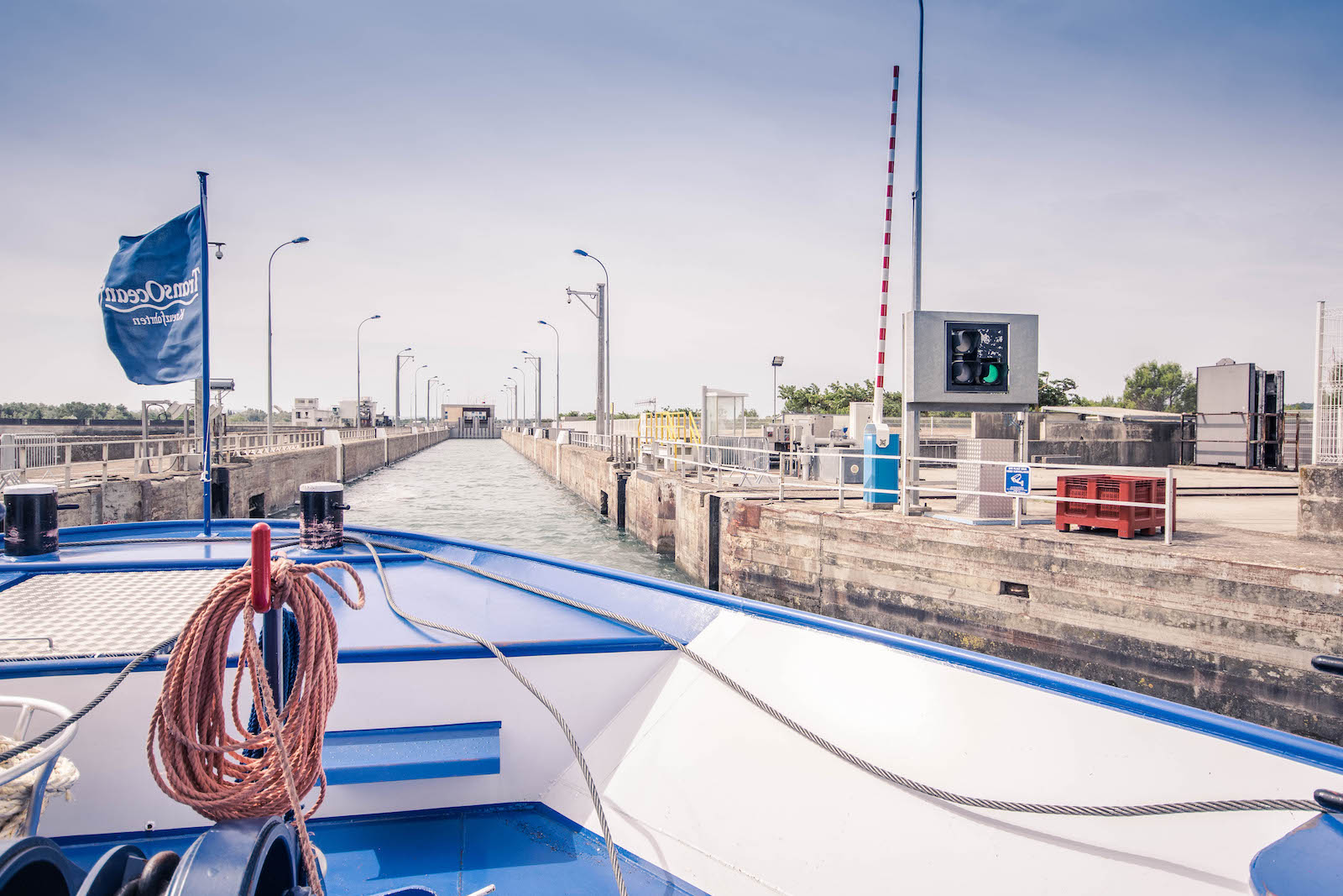 Flusskreuzfahrt-Schlleuse