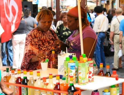 Frauen auf Martinique in der Karibik