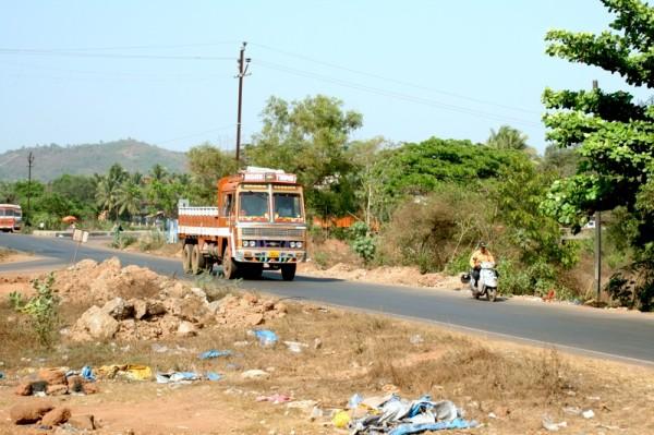 Indien, auch die Region Goa, hat ein großes Müllproblem