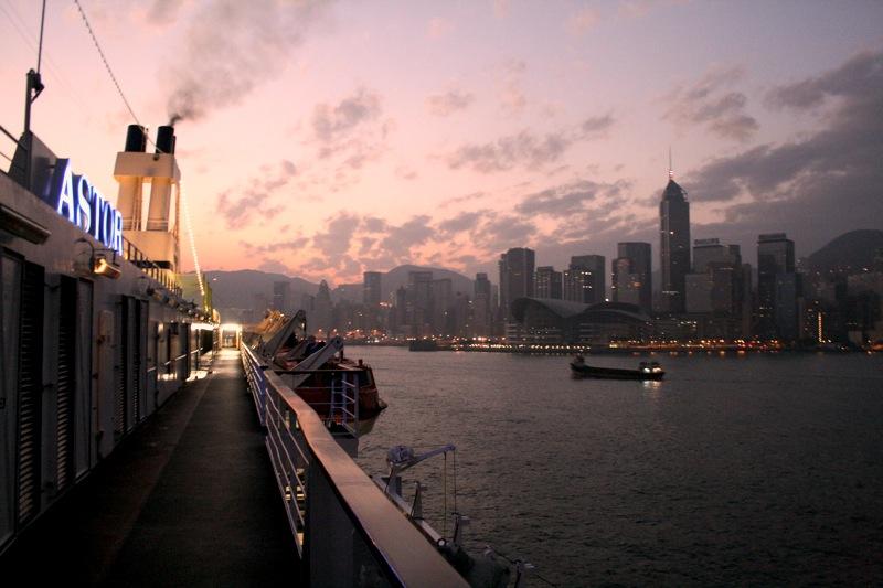 Die Skyline vom Schiff aus