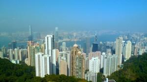 Die Hochhäuser von Hong Kong