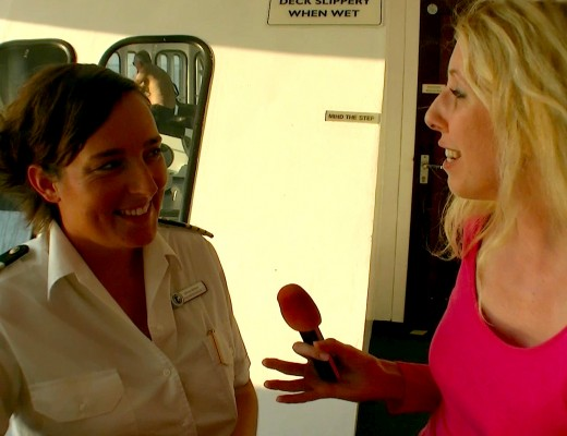 Katharina mit Silvia im Interview