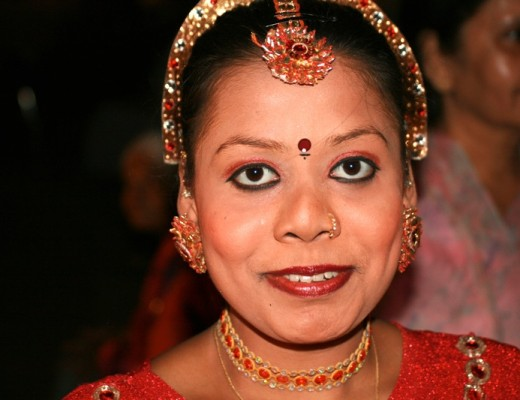 Tänzerin in Mumbai