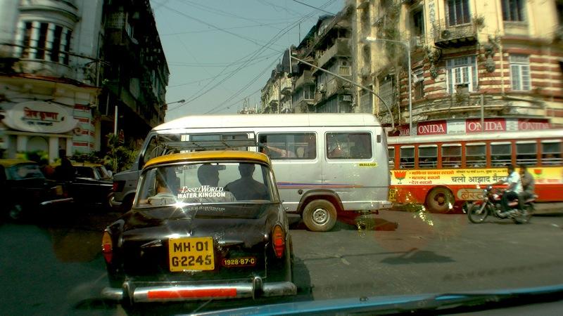 Im Verkehr von Mumbai