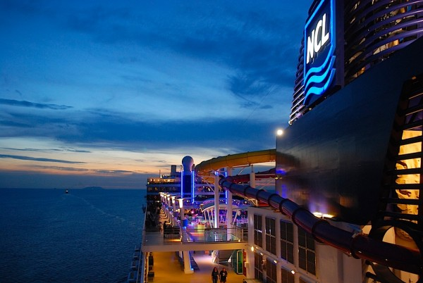 An Bord der Norwegian Epic