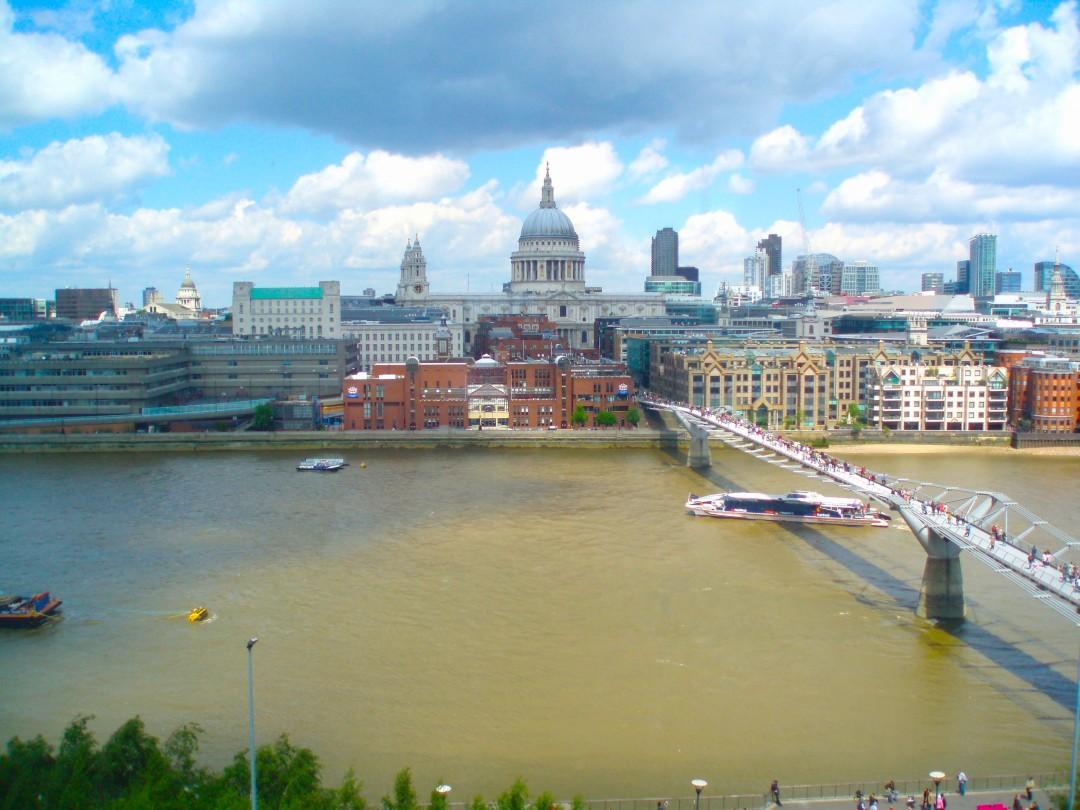 Der Blick aus dem Tate Modern Restaurant