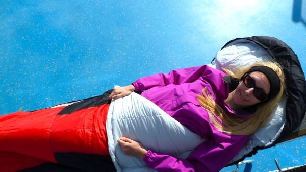 Schlafsack für die Kreuzfahrt