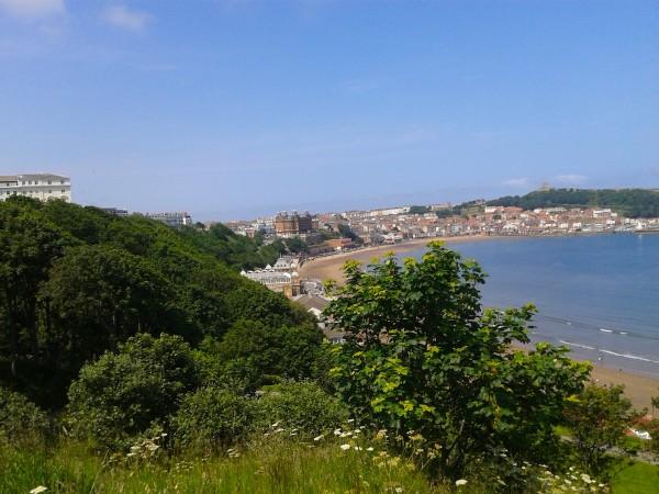 Blick auf Scarborough und South Bay