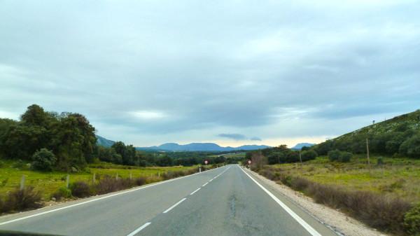 Autorouten Andalusien