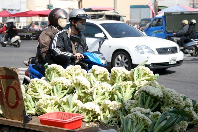 Mopedfahrer in Taiwan