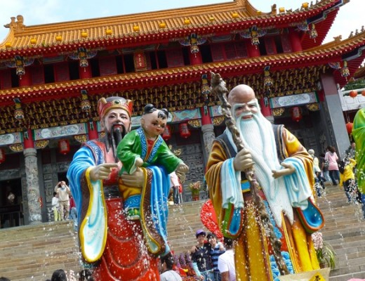 Der Wen Wu Tempel am Sonne-Mond-See