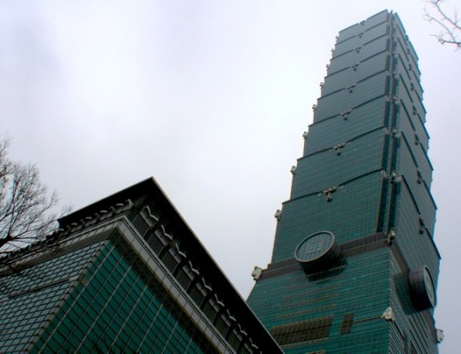 Der Taipeh 101 Tower in Taipeh, Taiwan