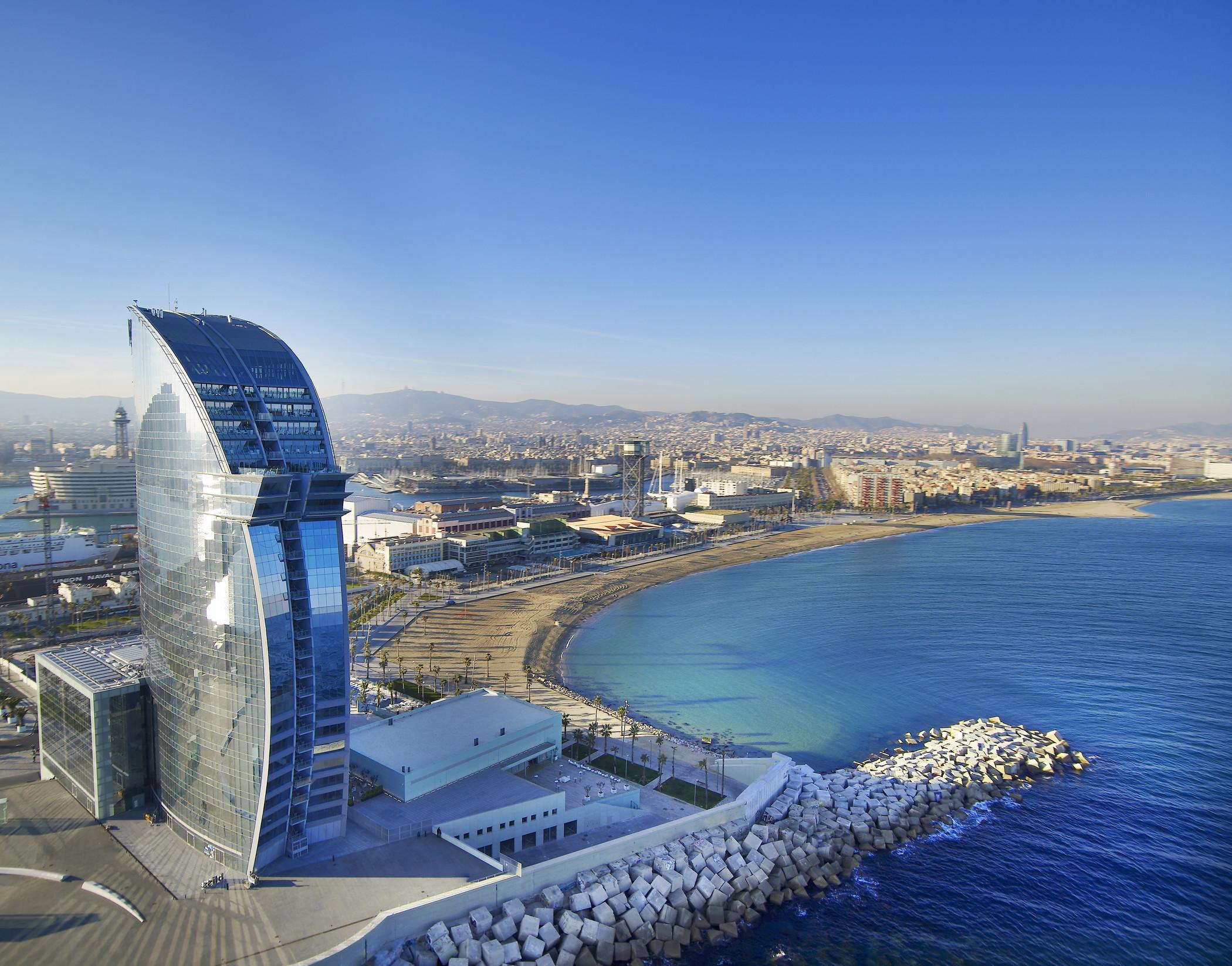Das w hotel barcelona noble insel in der spanischen for Hotel barcelona barcelona