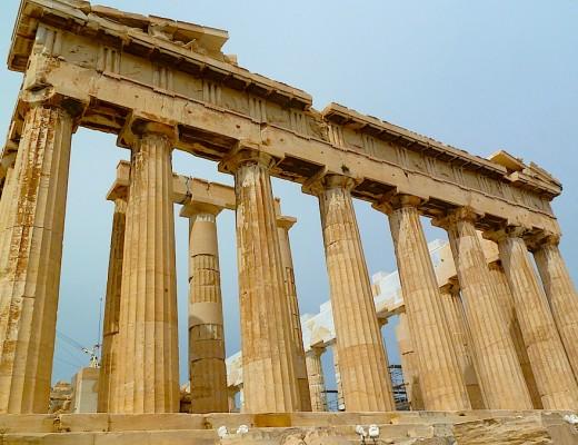 Der Parthenon-Tempel auf der Akropolis