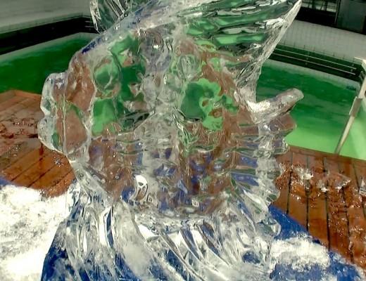 Ein Fisch aus Eis