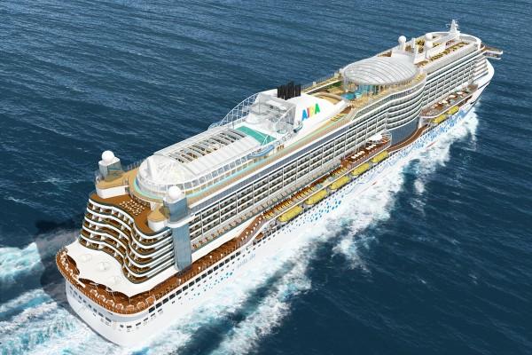 AIDAprima - Das Kreuzfahrtschiff von AIDA Cruises auf dem Meer