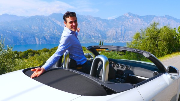 Mit dem Cabrio am Gardasee