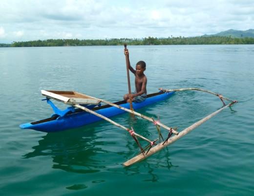 Typisches Kanu in Papua Neuguinea