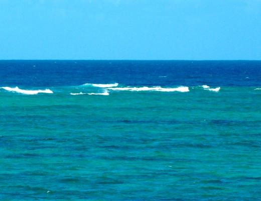 Badewanne an der australischen Küsteen