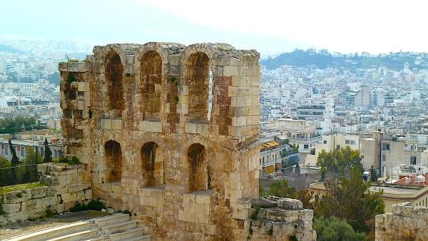 Blick auf Athen von der Akropolis aus