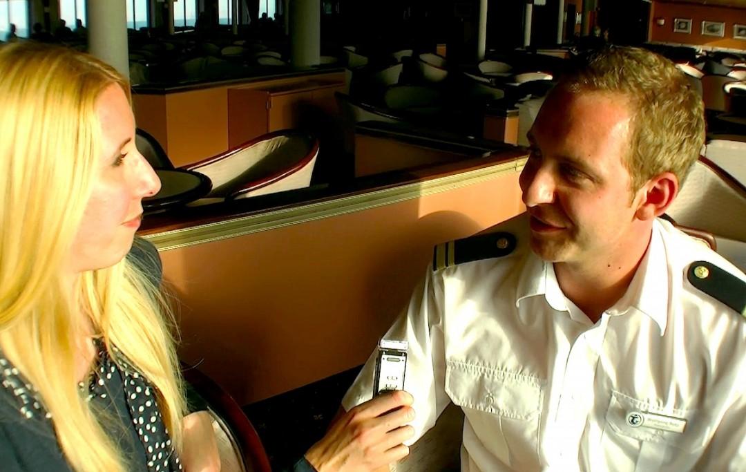 Katharina im Interview mit Wolfgang