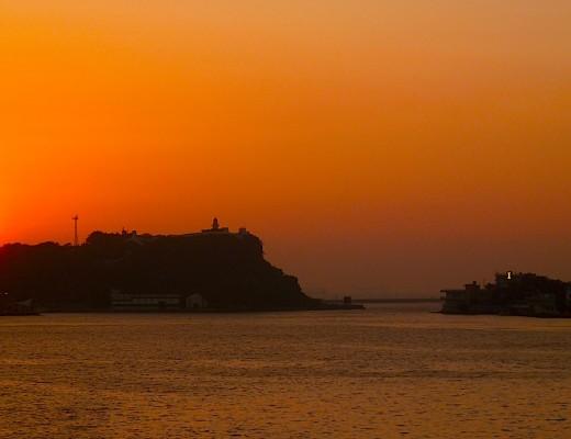 Sonnenuntergang in der Bucht von Kaohsiung